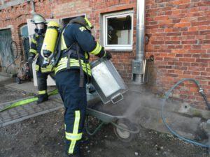 Einsatz 02-2021: Schornsteinbrand in Woltersdorf