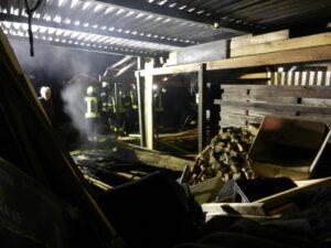 Einsatz 04-2021: Holzschuppenbrand in Woltersdorf